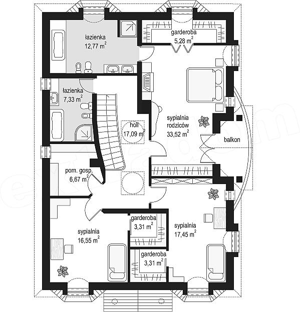 Projekt Domu Ambasador 3 22882 M2 Inspiracjepl